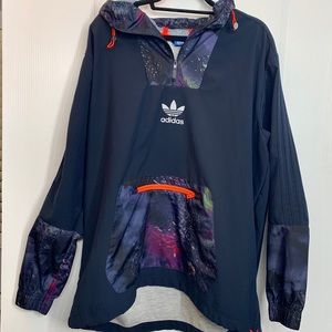 Adidas Men's Space Patched Navy Blue Jacket